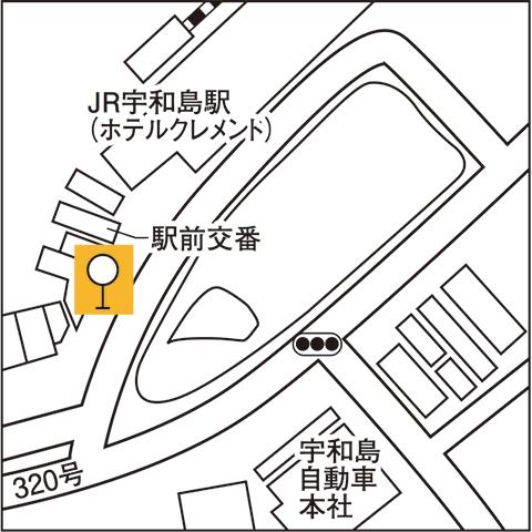 JR宇和島駅前
